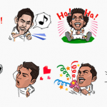 Line permite descargar stickers del Real Madrid gratis