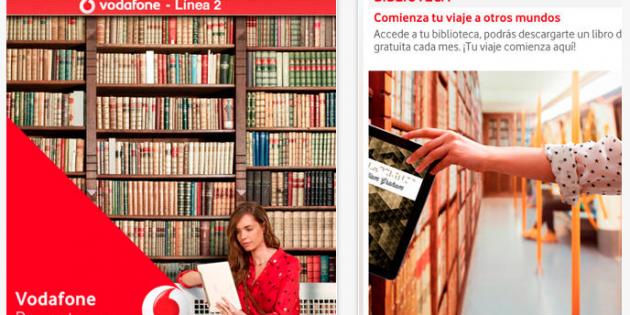 Libros gratis para los usuarios del metro de Madrid con la App Vodafone L2