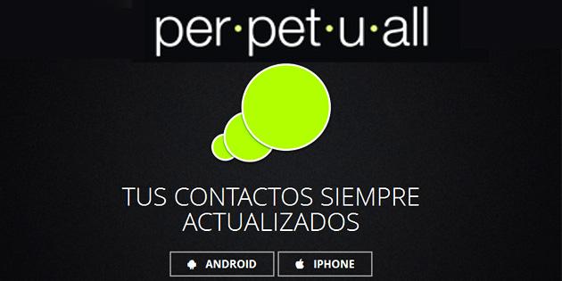 Mantén tu agenda de contactos actualizada con Perpetuall