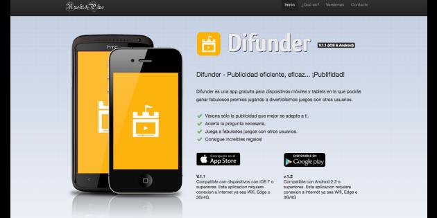 Difunder web