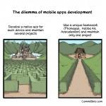 Cómic: El dilema de desarrollar aplicaciones móviles