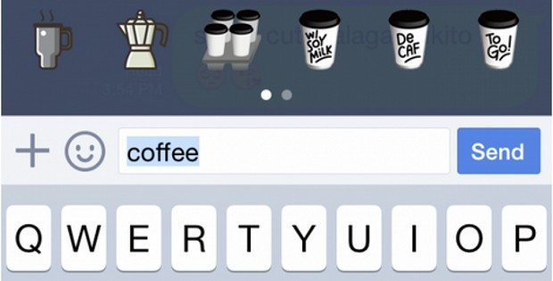 Line ahora te sugiere stickers mientras escribes también en iOS