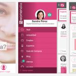Mujeres profesionales conectadas con la app de Womenalia