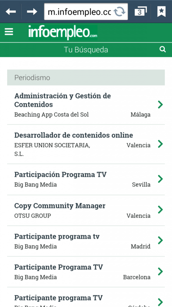 web app infoempleo