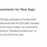 Apple solo aceptará apps con soporte para 64 bits e iOS 8