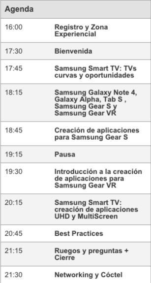 calendario cumbre desarrolladores