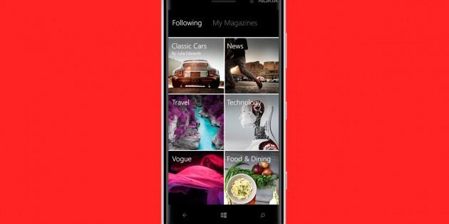 Ahora sí, Flipboard ha aterrizado en Windows Phone 8