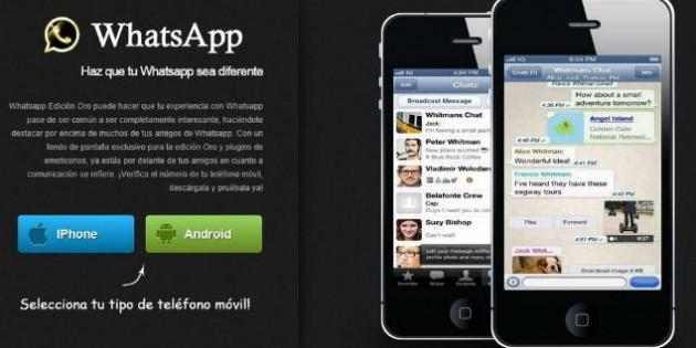 WhatsApp Edición Oro, la última estafa en torno a la app de mensajería instantánea