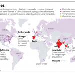 Países donde opera Uber y donde está bloqueado