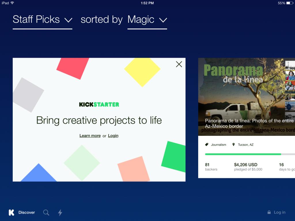 Kickstarter-ios