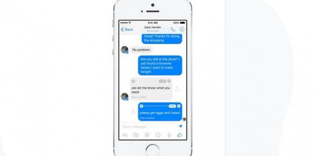 Facebook Messenger permitirá convertir mensajes de voz en texto