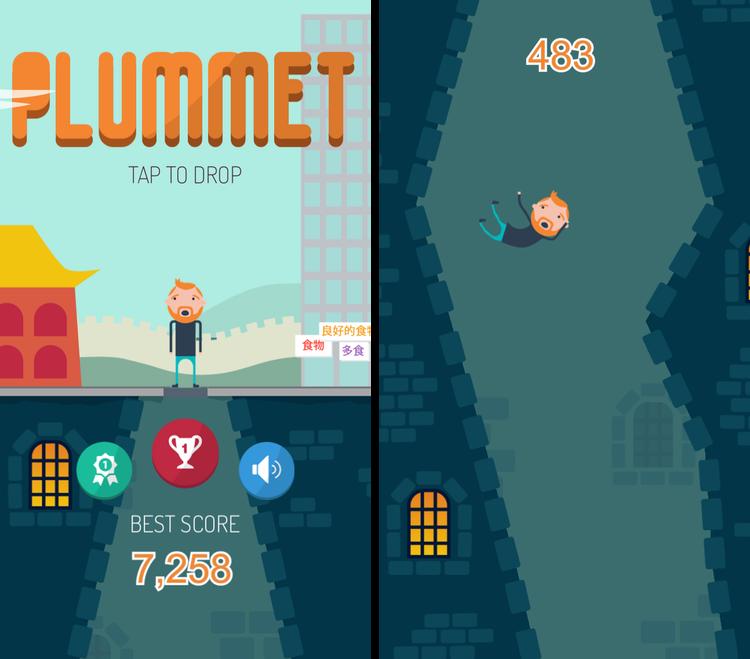 plummet-juego-ios