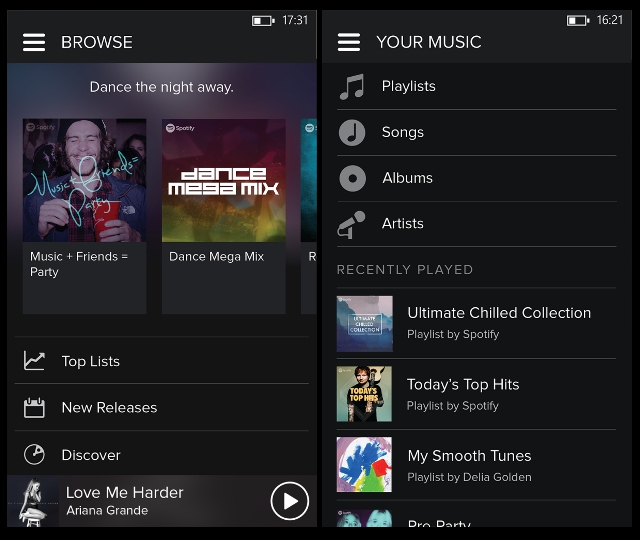 spotify-explorar-tu-musica-windows-phone