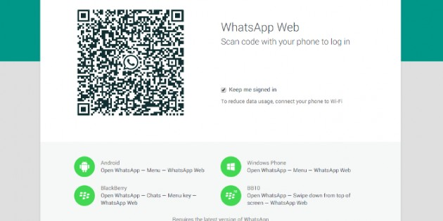 WhatsApp lanza una versión para navegador web