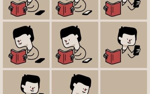 Cómic: Estudiando con el smartphone