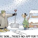 Cómic: No hay una app para quitar la nieve