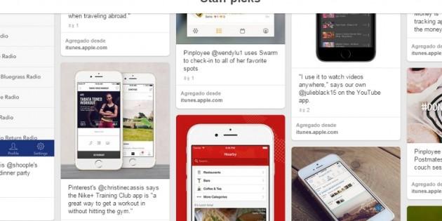 Pinterest permite descargar apps directamente desde los pins
