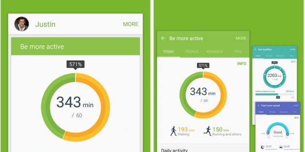 Samsung libera S Health en Google Play
