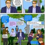Cómic: Una tarde al aire libre sin mirar tu smartphone