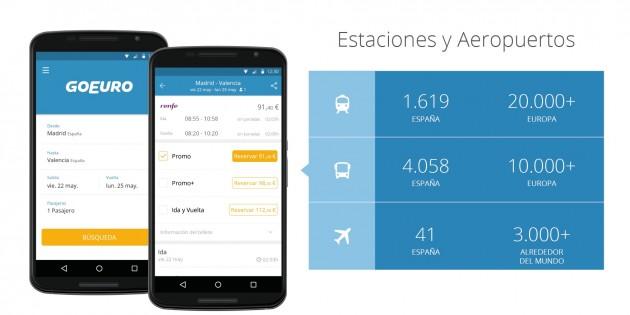 GoEuro: tus billetes de tren, bus y avión en una única app para iPhone y Android