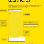 Meerkat ya permite embeber vídeos en la web