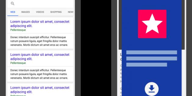 Google penalizará a las webs con intersitials de instalación de apps desmesurados