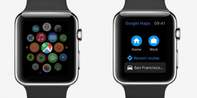 El Apple Watch, nuevo destino de Google Maps