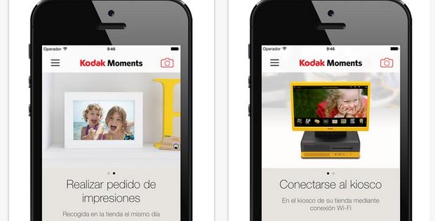 Edita, comparte e imprime tus fotos con Kodak Moments App