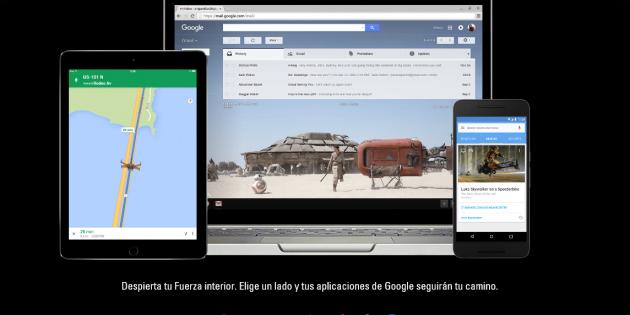 Google pasa sus apps al lado oscuro de la Fuerza