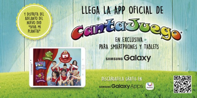 La app de Cantajuego llega a los smartphones y tablets Samsung