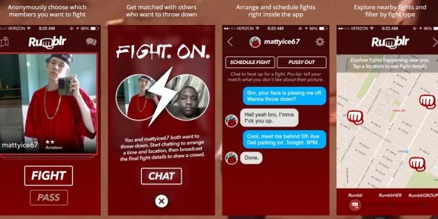 Rumblr, el Tinder de las peleas, es solo una campaña de marketing