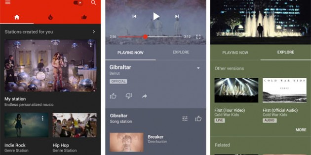 YouTube Music, música por un tubo