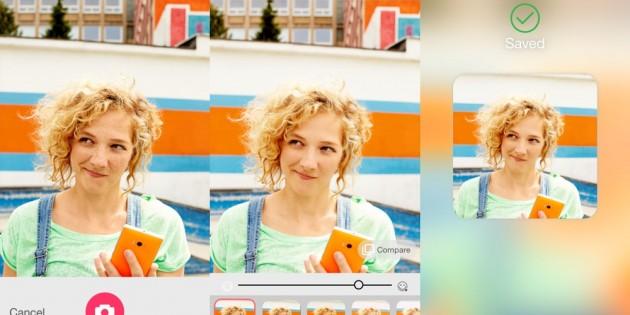 Microsoft Selfie se actualiza con opciones para compartir