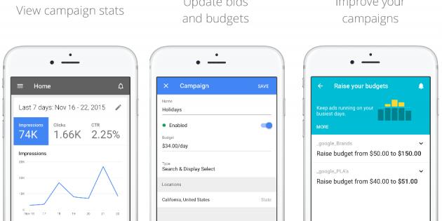 Google lanza una versión de AdWords para iOS