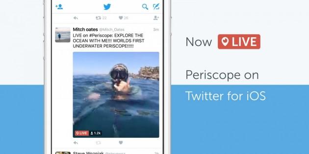 Los vídeos de Periscope llegan a la app de Twitter