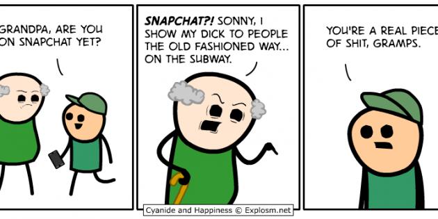 Cómic: Snapchat a la vieja usanza
