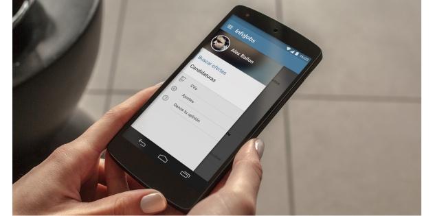 Busca empleo en cualquier momento gracias a la app de Infojobs