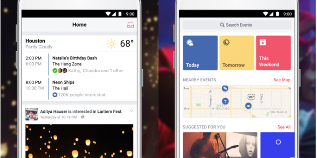 Facebook Events aterriza en Android