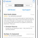 Los desarrolladores de iOS ya pueden responder a las reviews de sus aplicaciones