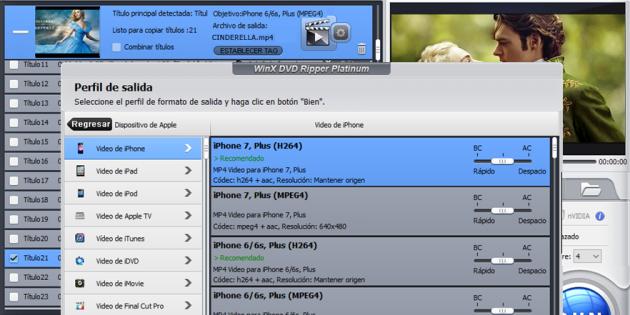 WinX DVD Ripper te permite convertir tus DVD en MP4 y disfrutarlos en cualquier smartphone o tablet