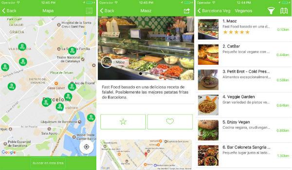 Una app recoge toda la oferta vegetariana y vegana de Barcelona