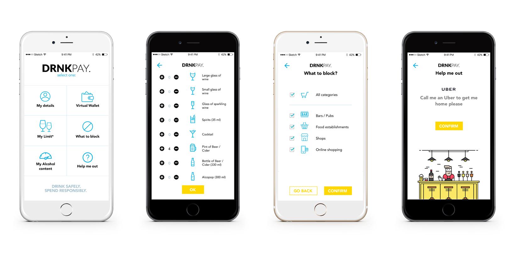 DrnkPay, una app para evitar usar tu tarjeta de crédito cuando has bebido más de la cuenta