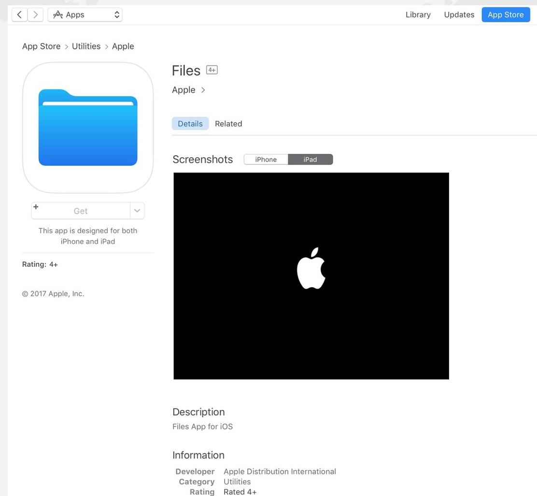 Files, la nueva app de Apple para gestionar archivos