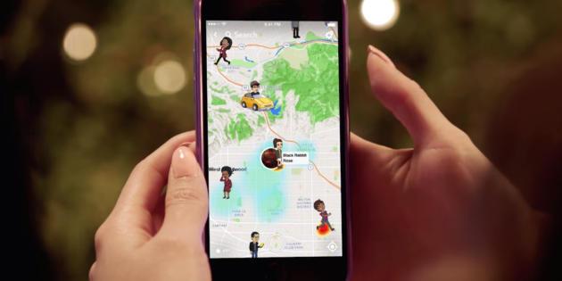 Snapchat lanza una función para que geolocalices a tus amigos