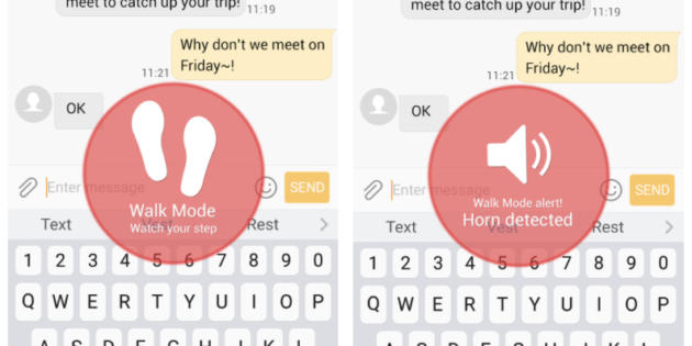 Samsung cuenta con una app especial para peatones que caminan distraídos