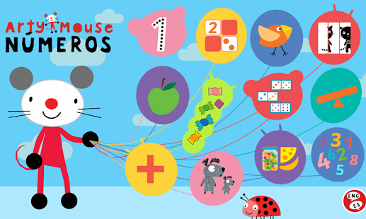 Arty Mouse, Números, la app para que tus hijos aprendan a contar del 1 al 10