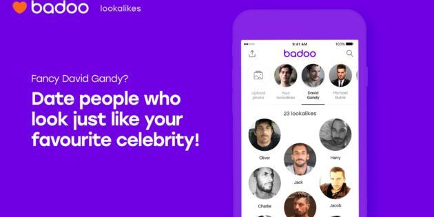 La app de Badoo ya te permite quedar con los dobles de los famosos