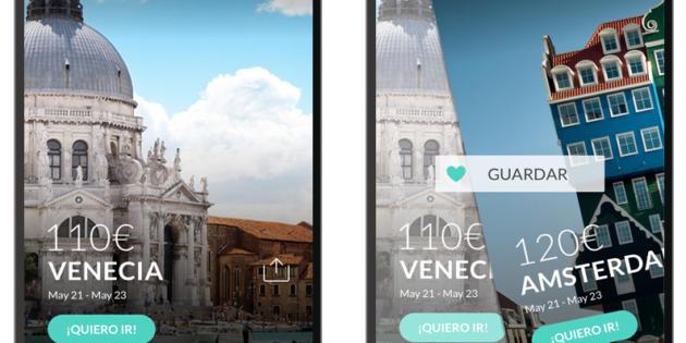 La nueva app de El Viajero Fisgón permite buscar viajes de fin de semana