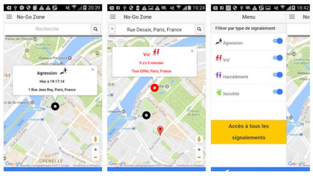 Una app permite a los parisinos informar de zonas de riesgo en su ciudad en tiempo real