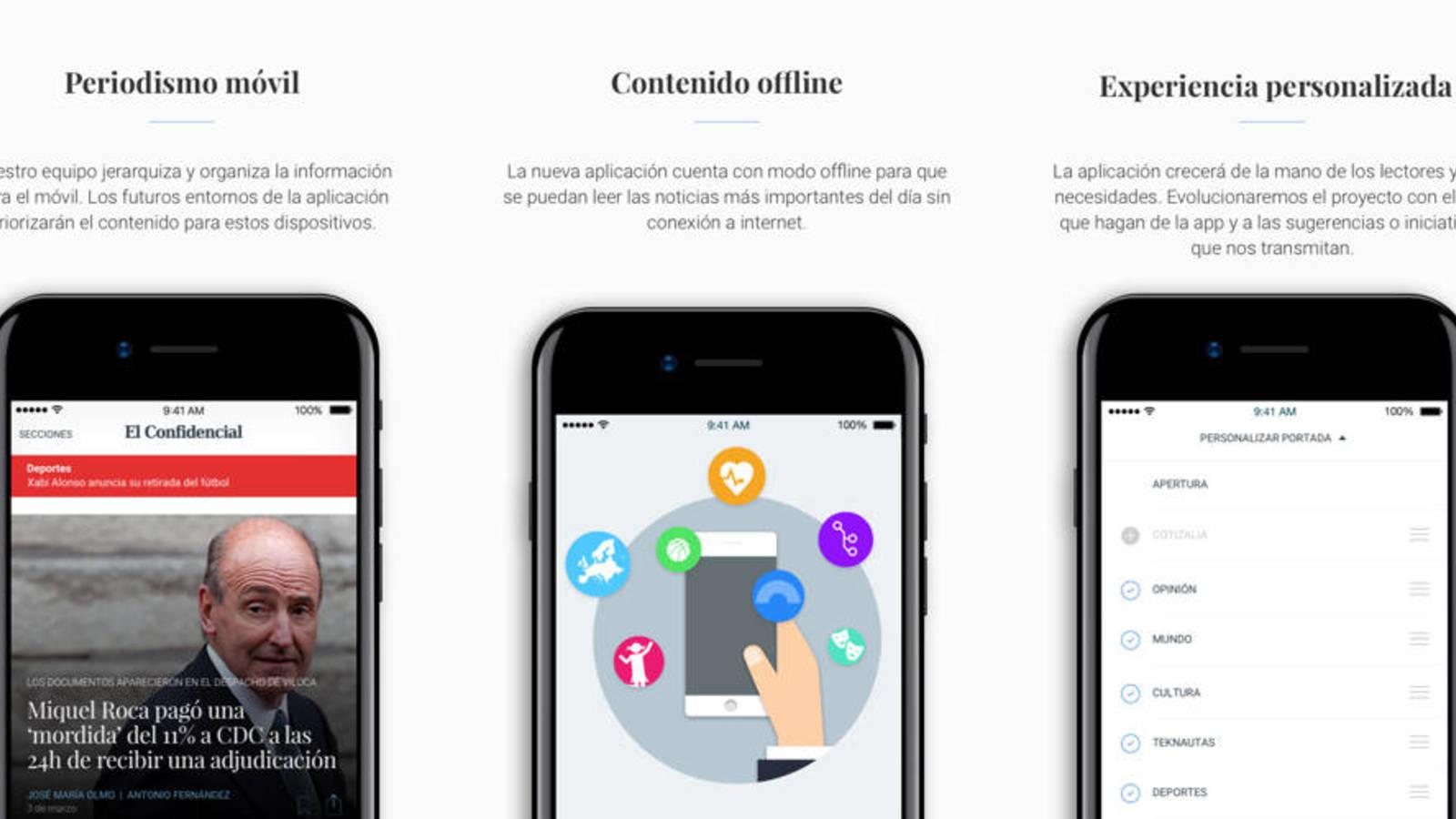 El Confidencial renueva su app de noticias
